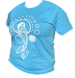 Mermaid Design T-shirt: Short Sleeve image